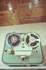 Old vintage tape recorder