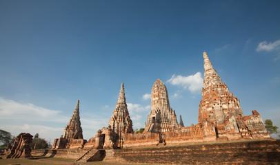 Wat Chai Watthanaram in Ayutthaya,Thailand