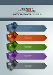 Modern Infographic Template with Necktie