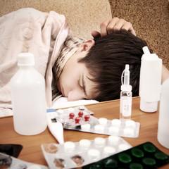 Sick Teenager sleep