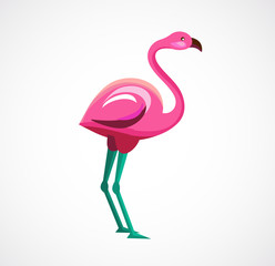 Pink Flamingo icon and illustration