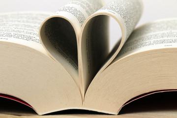 Book, reading, heart