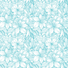 Stylish vintage floral seamless pattern. EPS8 vector.