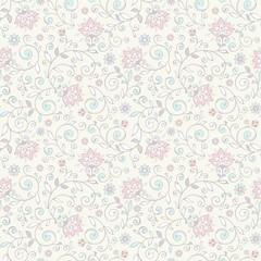 Elegant seamless floral pattern.