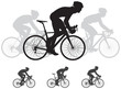 Bicycle race vector silhouettes - 79851830