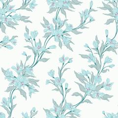 Stylish vintage floral seamless pattern.