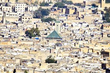City scenic from the city Fes in Morocco Africa