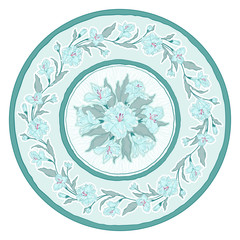 Round floral ornament. Decorative vector illustration.