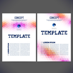 Abstract vector template design, brochure, Web sites, page