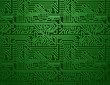 Vector green circuit board background - 79853272