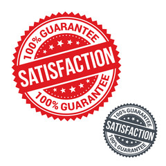 Vector stamp 100% satisfaction guarantee. Use for label, sign or