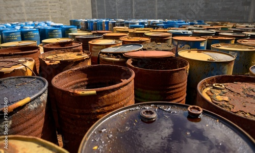 Several barrels of toxic waste - 79853469