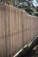 Wooen fence