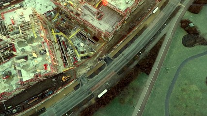 Aerial city view ,modern city construction and development Londo