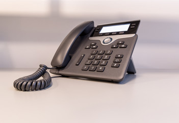 Modern IP Phone on desk