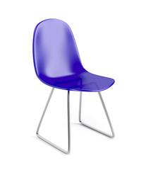Blue plastic chair