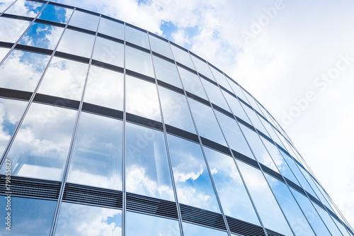 Leinwanddruck Bild Hochhaus - modernes Gebäude - Spieglung