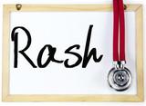 rash word write on blackboard poster