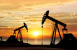 silhouette of oil pumps - 79856441