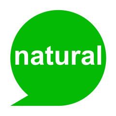 Icono texto natural