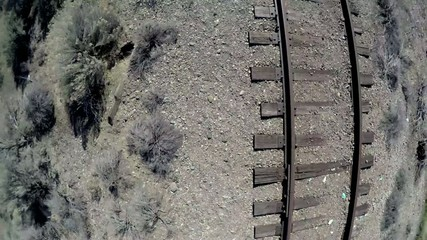Railroad tracks from a unique perspective