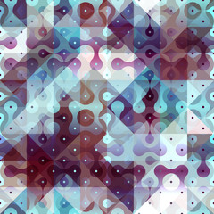 Abstract geometric pattern with droplet elements.