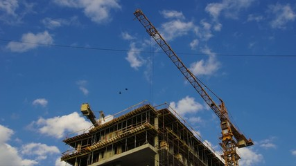 Construction modern office building - Time Lapse HD 30P