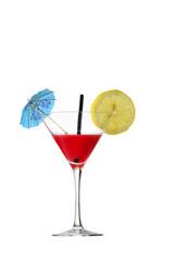 Bicchiere, Cocktail, rossini, sfondo bianco
