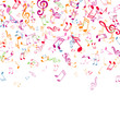 Vector Background with Colorful Music Notes