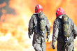 Firefighters during rescue operation