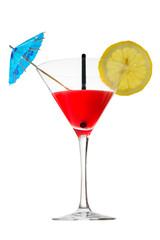 Bicchiere, Cocktail, rossini, sfondo bianco, drink, still life