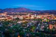 Leinwanddruck Bild - Twilight view of the city of Riverside, from Mount Rubidoux Park
