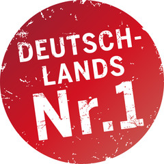 Button Stempel Deutschlands Nr.1