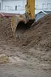 Bagger in einer Baugrube