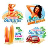 STICKERS SUMMER HOLIDAYS