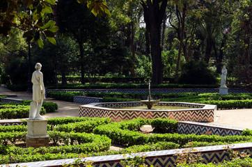 Maria Luisa garden, Seville, Andalusia, Spain
