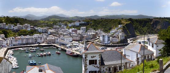 Panorama de Luarca. Asturias.