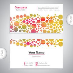 business card - Abstract circular pattern - company presentation