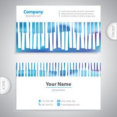 business card - abstract musical piano keys - company presentati