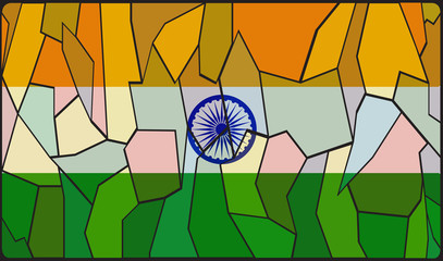 India Flag Stained Glass