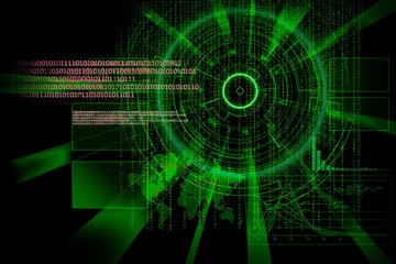 rendering of a futuristic cyber background target with laser lig