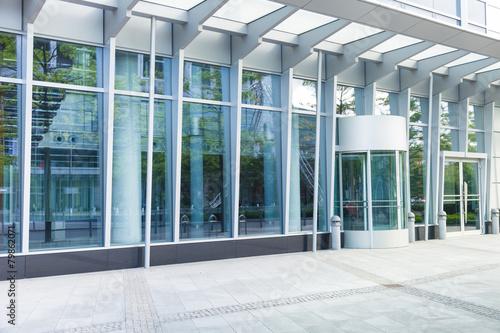 Leinwanddruck Bild Eingang - modernes Gebäude - Deutschland