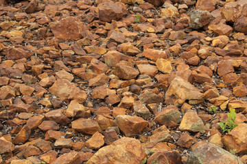 Background of copper ore stones