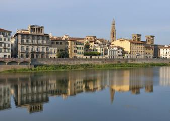 Florence Arno river embankment