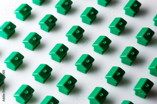 canvas print picture Small toy houses