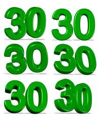 30, yeşil renkli otuz tasarımı