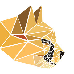 polygonal abstract geometric triangle cheetah. low poly head