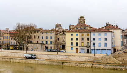 Embankment of Arles - France, Provence-Alpes-Cote d'Azur