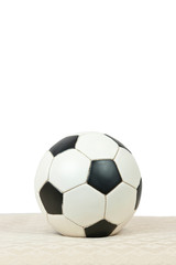 Soccer Ball On Vertical White