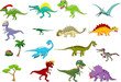 Dinosaur cartoon collection set for you design
